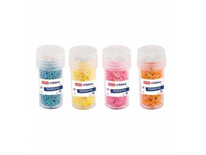 11948 dekorativni trpytky mix tvaru pastelove barvy 4 x 8g