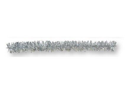 12110 plysovy drat 8 mm 50 cm stribrny