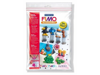 12191 forma ze silikonoveho plastu funny animals 10 motivu 6x4 cm