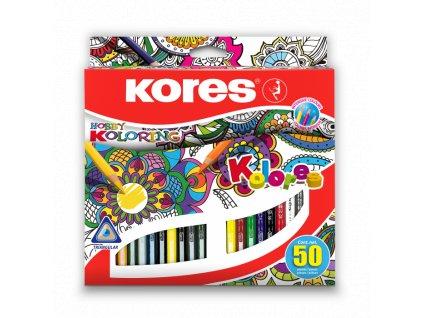 12473 1 trojhranne pastelky kores 93350 mandala 50 barev