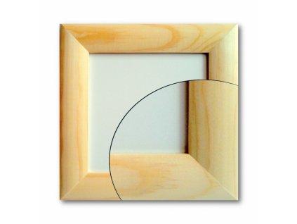 12995 ramecek dreveny 12x12 cm zaoblena lista