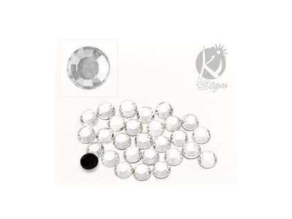 13250 nazehlovaci kaminky na textil 6mm 35ks crystal