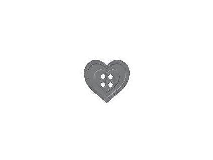 13469 derovacka s lisovackou 25mm srdce knoflik