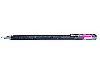 13673 5 pentel hybrid dual metallic k110 ruzova metalicka ruzova