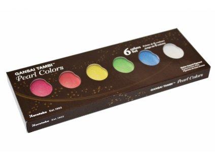 13808 akvarelove barvy gansai tambi pearl colors sada 6 ks
