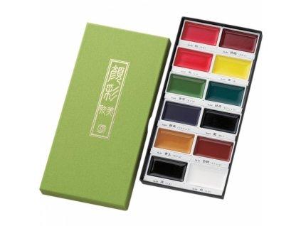 13814 akvarelove barvy gansai tambi sada 12 ks
