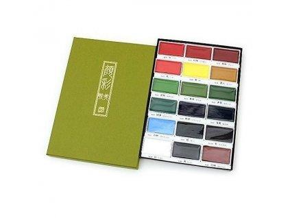13817 akvarelove barvy gansai tambi sada 18 ks kuretake