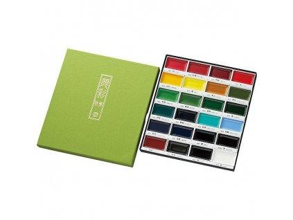 13820 akvarelove barvy gansai tambi sada 24 ks kuretake