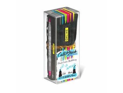 14012 5 kaligraficke popisovace calli brush set 11 barev v latkovem pouzdre
