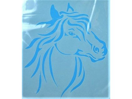 30144 sablona plastova 25 x 25 cm hlava kone