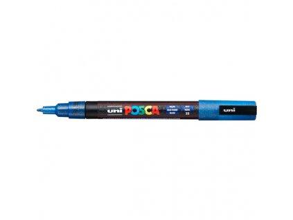 UNI POSCA PC 3M Dark Blue Sparkling (2)