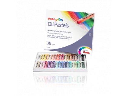14501 1 olejove pastely pentel 36 barev