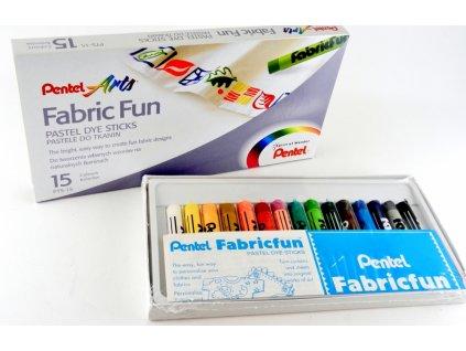 14513 voskovky na textil pentel 15 barev