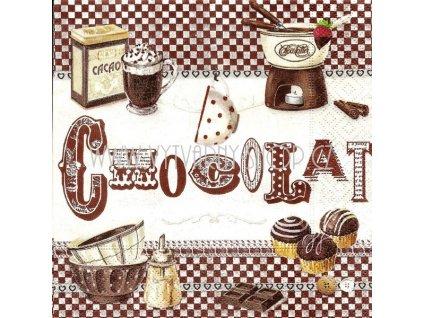 14561 ubrousek trivrstvy 33 x 33 cm chocolat fondant