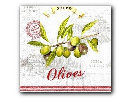14576 ubrousek trivrstvy 33 x 33 cm olives