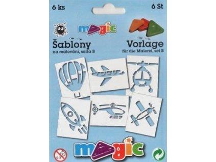 30663 magic sablony papirove 6 ks sada b vzdusna doprava