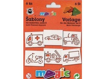 30669 magic sablony papirove 6 ks sada e pozemni doprava