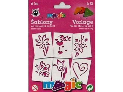 14747 magic sablony papirove 6ks sada k jaro