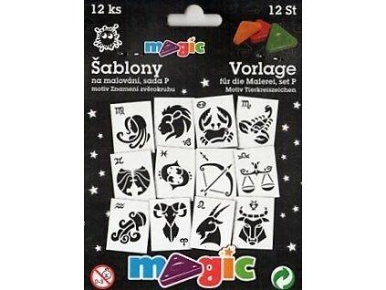 30681 magic sablony papirove 12 ks sada p znameni zverokruhu