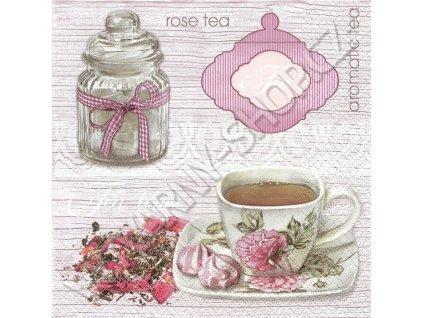 14855 ubrousek 33x33 cm pink tea background