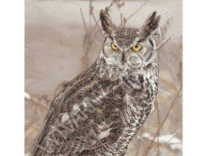 14861 ubrousek 33x33 cm winter owl
