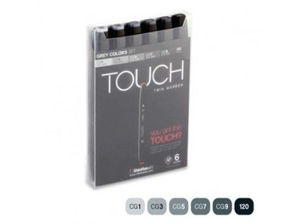 15074 1 designersky fix touch twin marker sada 6 cool grey