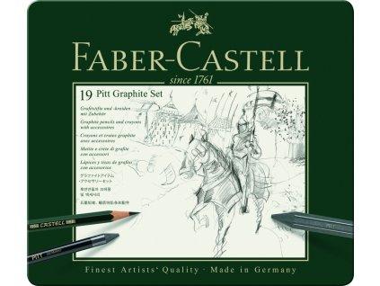 34140 1 pitt graphitte set 19 ks faber castell 112973
