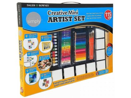 34353 kreativni sada simply creative mini artist set 115 ks