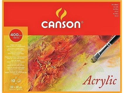34449 canson acrylic blok 24x32 cm 400g