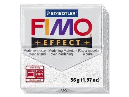 FIMO EFFECT polymerová hmota 56g glitrová bílá - 052