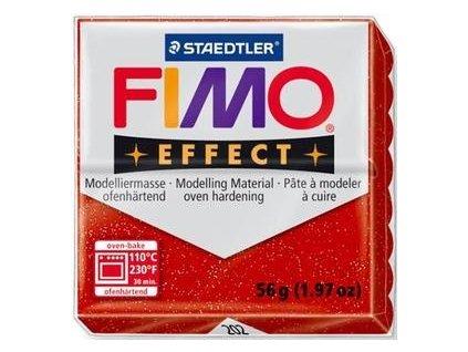 35388 fimo effect polymerova hmota 56g glitrova cervena 202