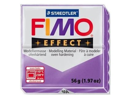 35451 fimo effect polymerova hmota 56g transparentni fialova 604