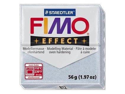 35463 fimo effect polymerova hmota 56g glitrova stribrna 812