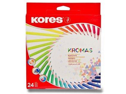 35670 trojhranne pastelky kromas 24 barev