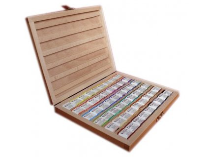 35880 akvarelova kazeta drevena umton 54 barev