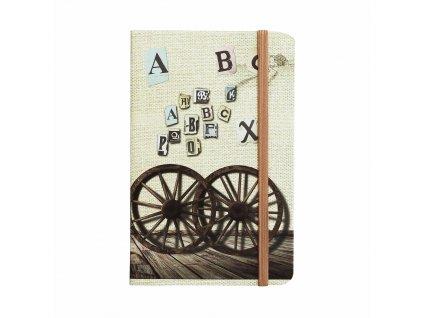 zapisnik ctvereckovany travel 14 x 9 cm design abeceda