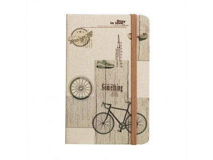 zapisnik ctvereckovany travel 14 x 9 cm design bicycle