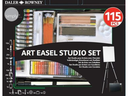196500604 Simply 115Pc Complete Art Set with Easel.