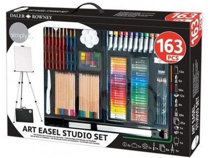 196500755 Simply 163Pc Complete Art Set with Easel