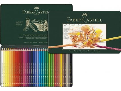 Umělecké pastelky Faber-Castell Polychromos 110036 sada 36 barev