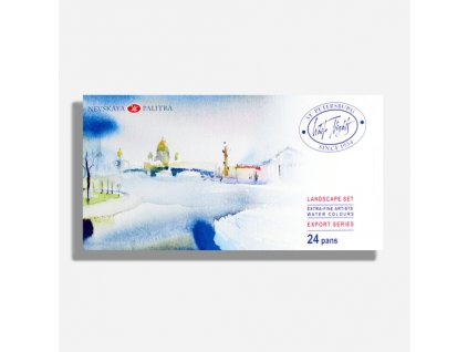 white nights artist watercolor pan landscape set x 24 94362