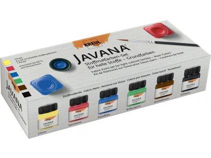 Barvy na světlý textil Javana 6 x 20 ml DOPRODEJ