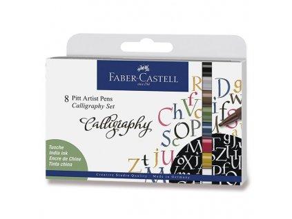 45575 umelecky popisovac pitt artist pen c kaligraficke sada 8 ks barevne