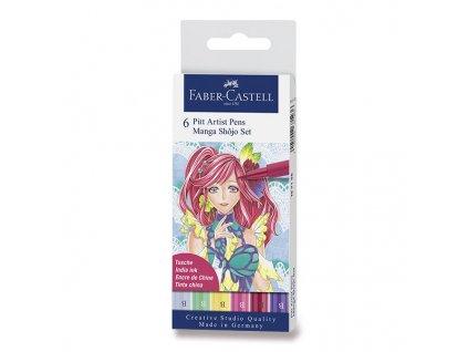 46511 umelecky popisovac pitt artist pen brush manga shojo stetcove sada 6 ks teple barvy