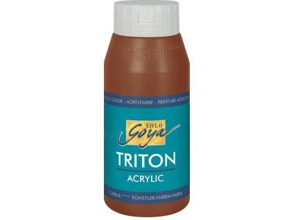 Akrylová barva SOLO GOYA Triton 750 ml hnědá tmavý oxid