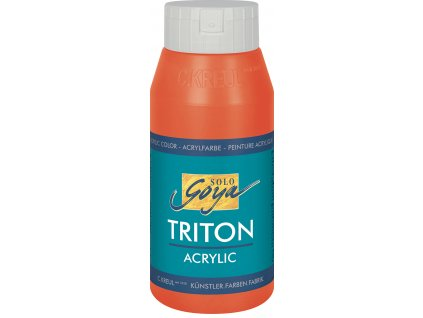 Akrylová barva SOLO GOYA Triton 750ml červená DOPRODEJ