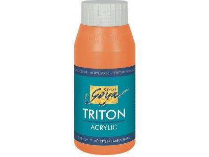 Akrylová barva SOLO GOYA Triton 750ml oranžová meruňková