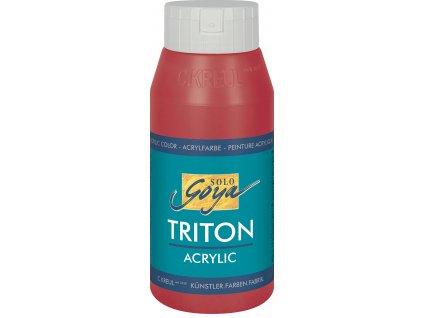 Akrylová barva SOLO GOYA Triton 750 ml červená karmín