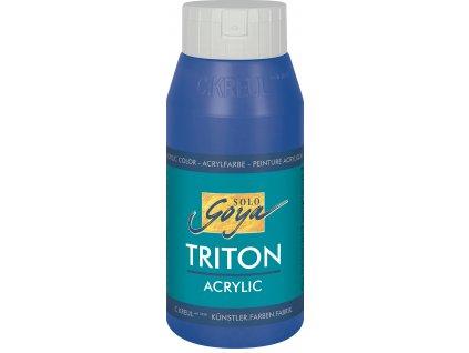 Akrylová barva SOLO GOYA Triton 750ml modrá ultramarín DOPRODEJ