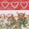 6059 ubrousek 33x33 cm rosas y amor